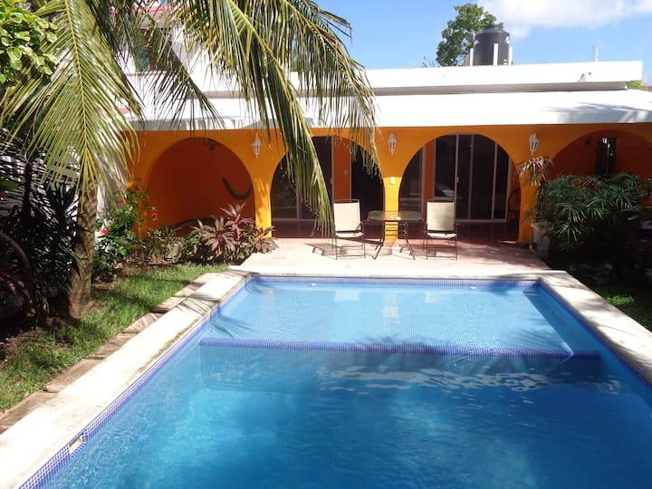 Beautiful Casa With pool on cozumel