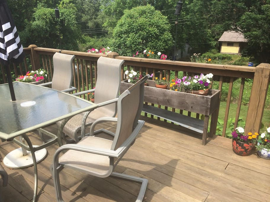 back deck extends from your private entrance