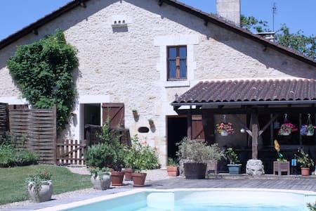 Gde maison-piscine, proche Brantôme - La Gonterie-Boulouneix