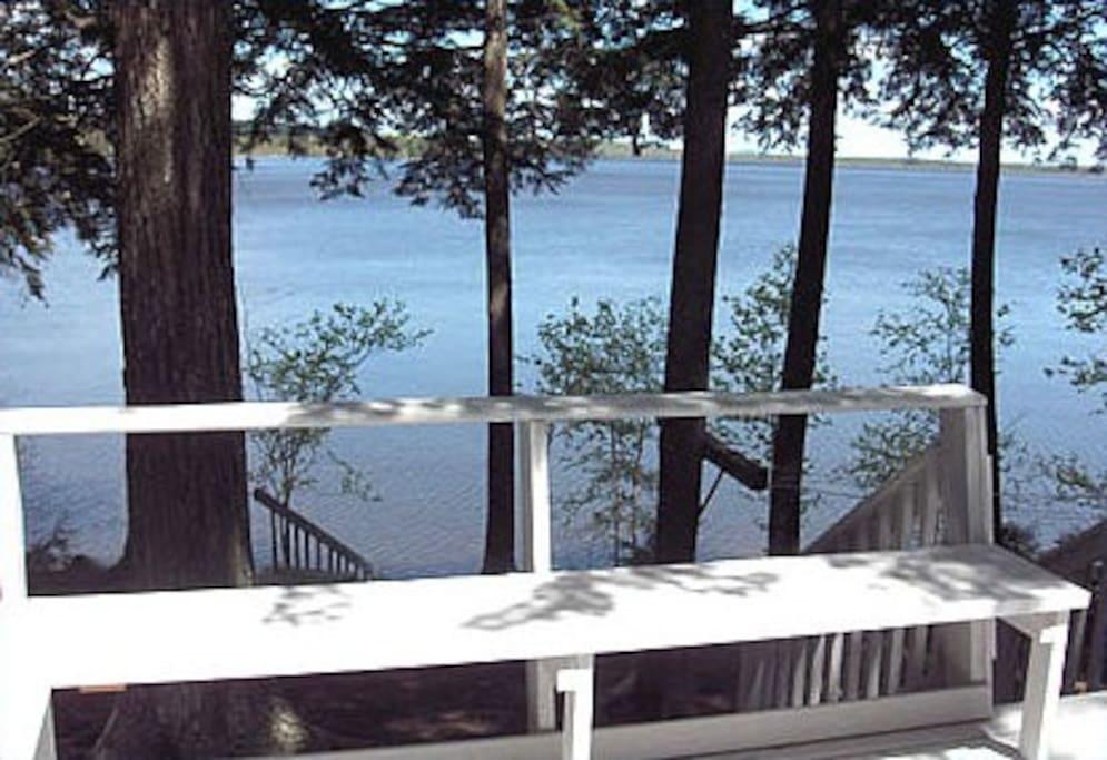 Bed Bedroom Cottage Graham Lake Maine