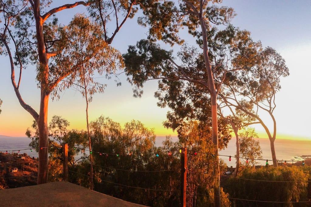Sunset (facing southwest)