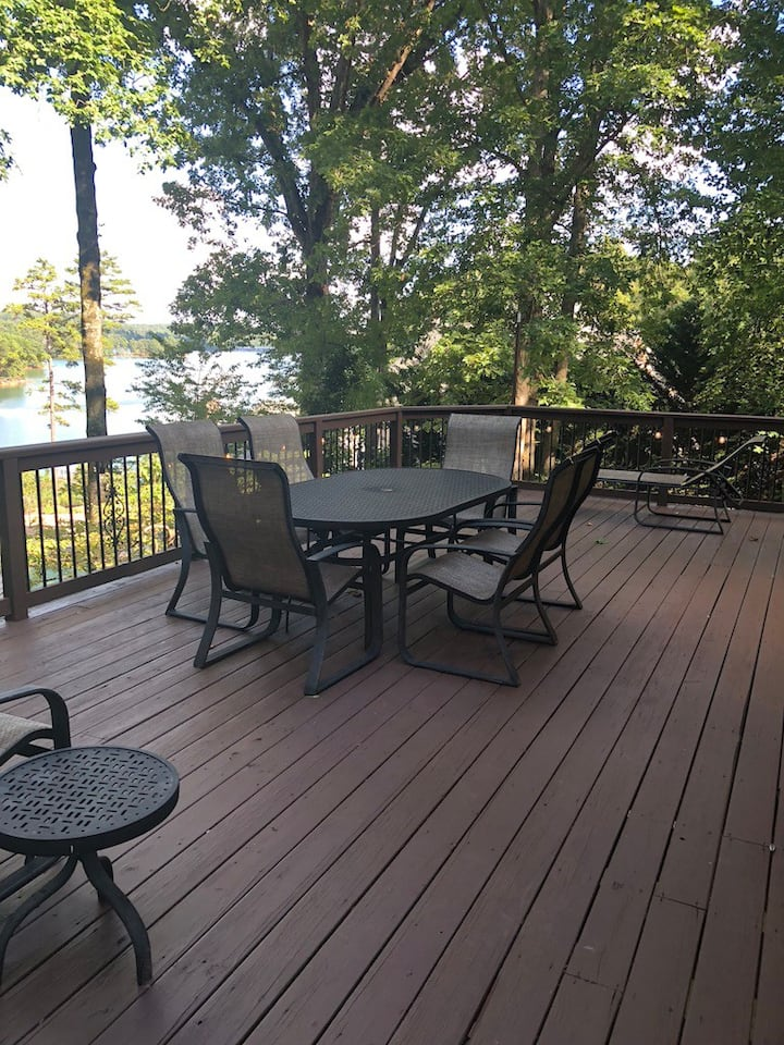 Deck on main level overlooking the water.