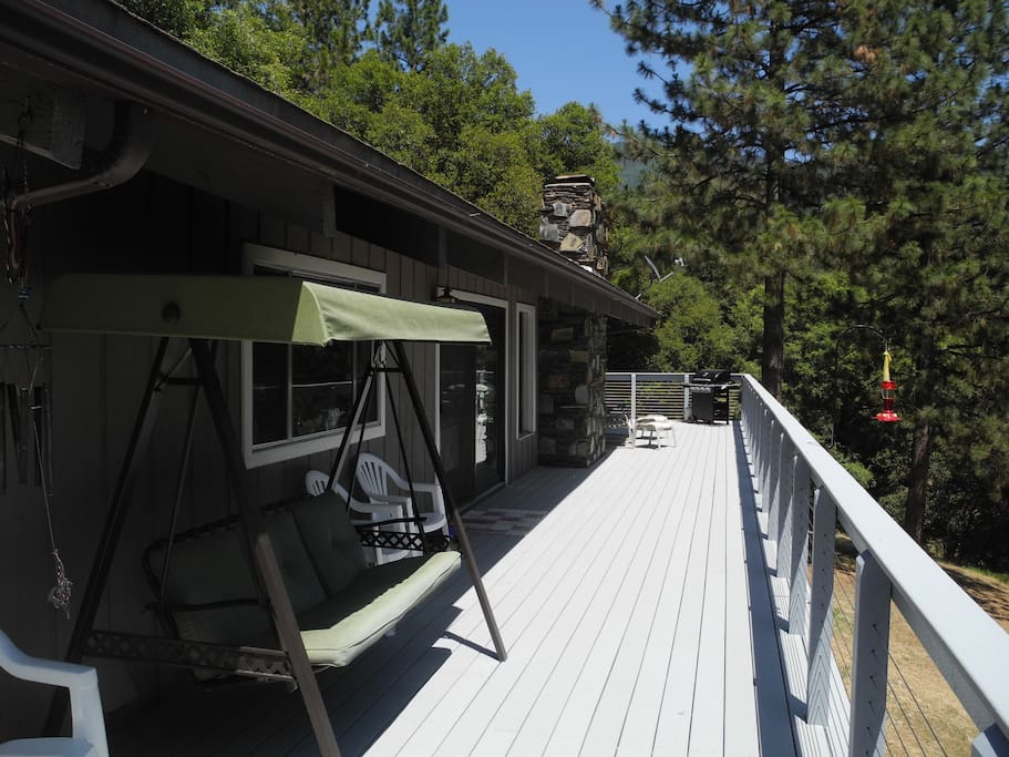 Upper deck outside of dining room and kitchen