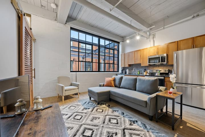 Industrial Loft Apartments in the BEAUTIFUL NEW Superior Building! #212