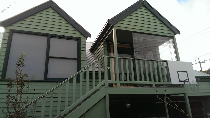 The outside view of The Upstairs Loft.