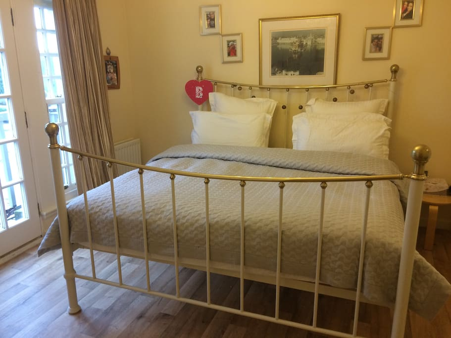 Super king size bed where guest will sleep . Room has its own ensuite with toilet sink & power shower