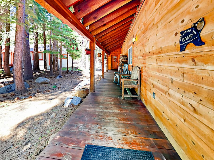 Step out onto the porch and breath in the fresh air.