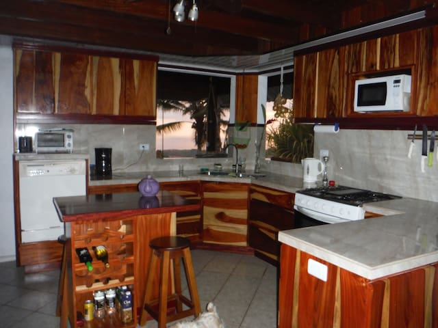 Gourmet Kitchen w/view of ocean
