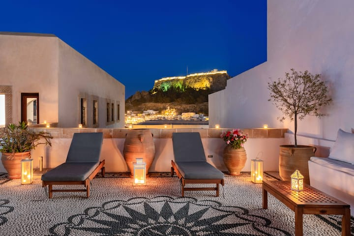 Luxury Villa Eleni Lindos Rhodes with Hot Tub