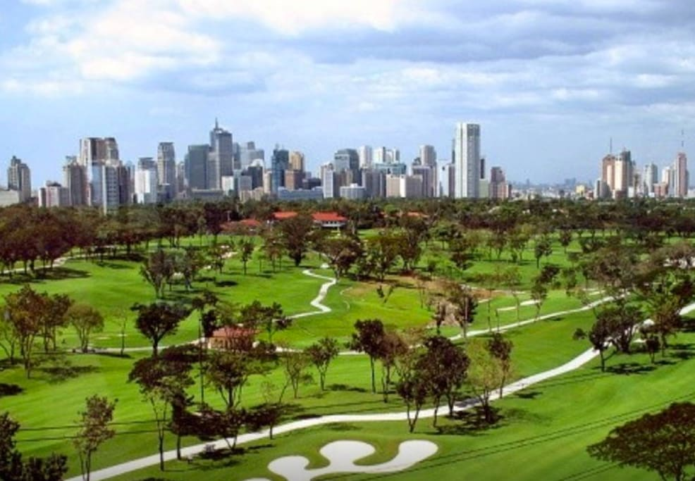 view from the loft onto Golf course and skyline