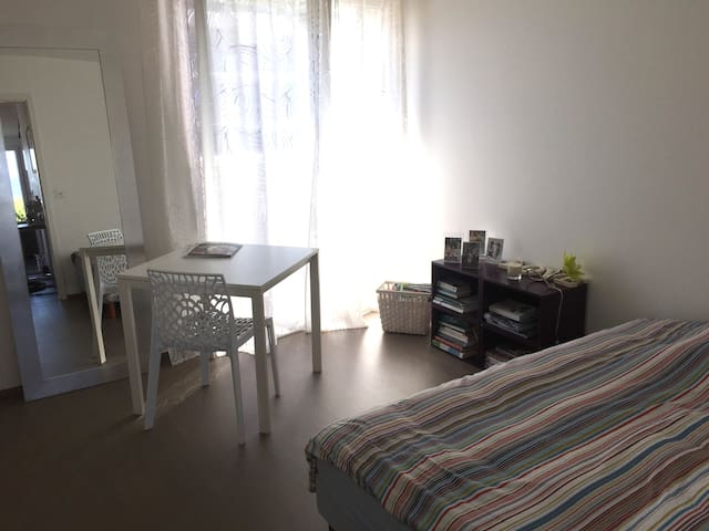 Lovely room in beautiful apartment with terrasse - Gland - Huoneisto