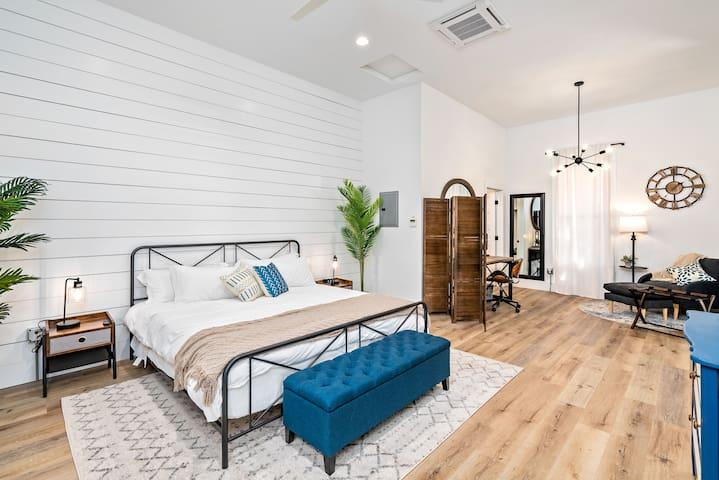 Spacious Bedroom with Workspace