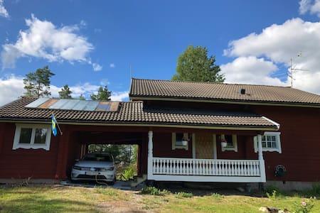 Timmershus nära 2 sjöar, golf, Valfjället