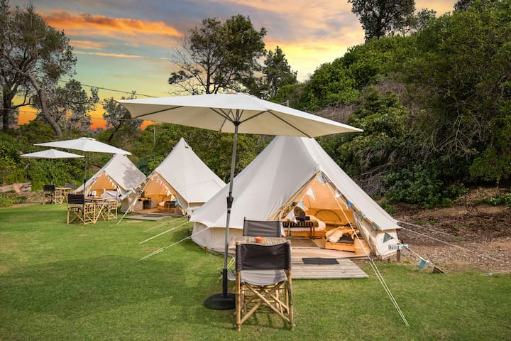 Luxury Glamping Tent with Private Beach Access