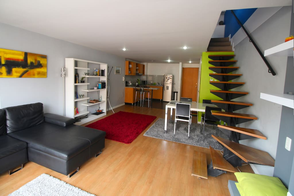 Downstairs open plan living