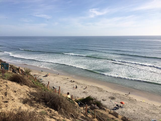 Ocean Front Townhouse w/ view, large Yard - Encinitas - Hus