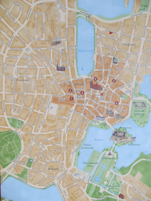 die Lage im Stadtplan