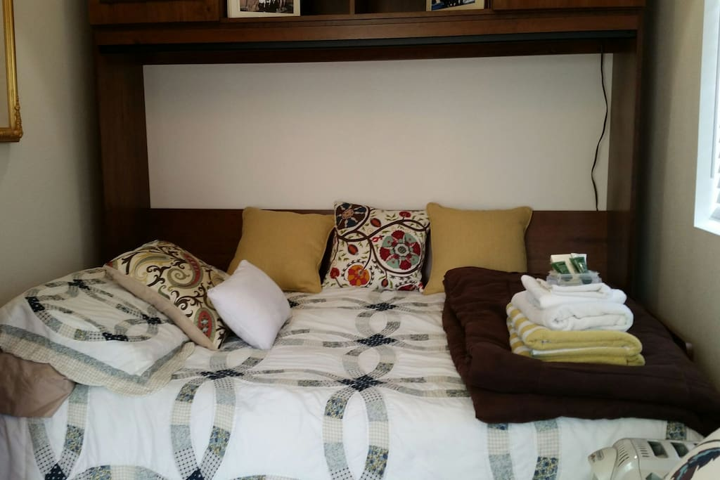 Comfy full size double bed
