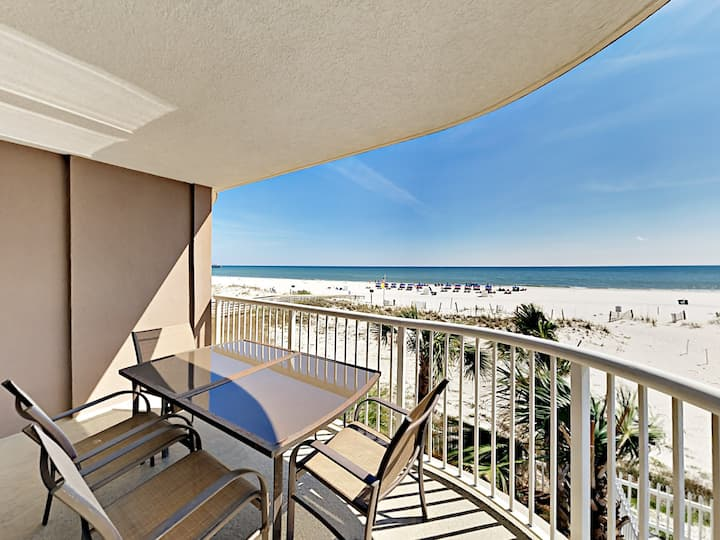 Beachfront Condo with Gulf Views & Heated Pools