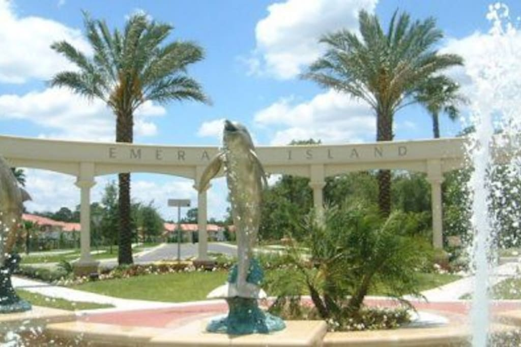 The entrance to the resort.