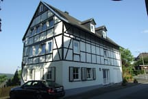 Our house in Hirschberg is very spacious and offers great views.
