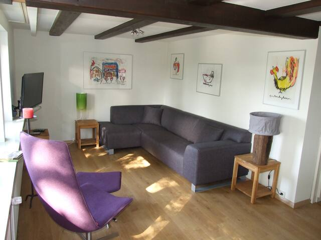 Part of the L-shaped sitting room