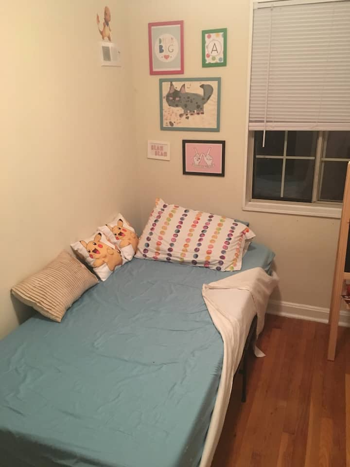 small, simple room 10 minutes from Washington, DC