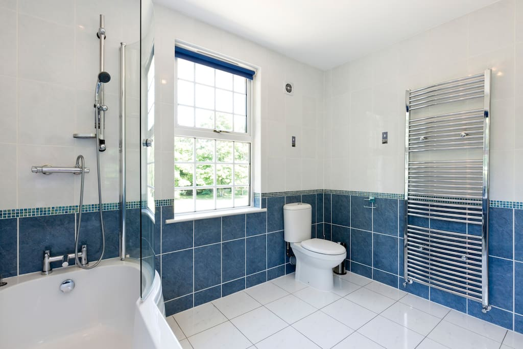 Ensuite with overhead shower