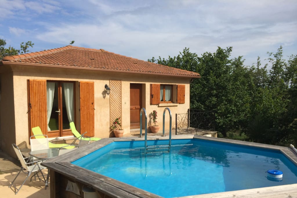 maison en pleine nature avec piscine - 4 km de la mer - sans vis à vis