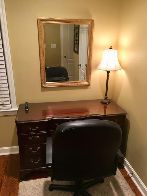 Desk in master bedroom.