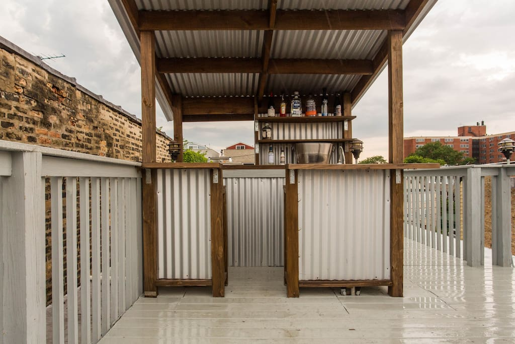 Make your friends or family drinks at your personal rooftop bar