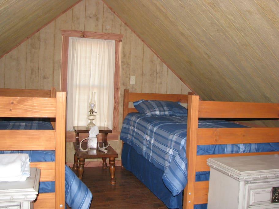 Twin Beds in Loft