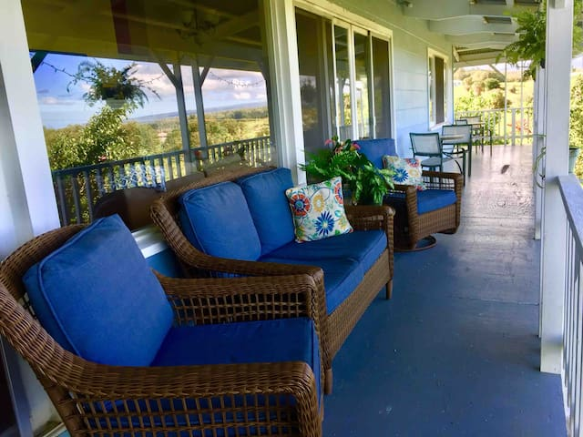 Enjoy a nice cup of coffee or tea while soaking up the beautiful lush nature and ocean views!