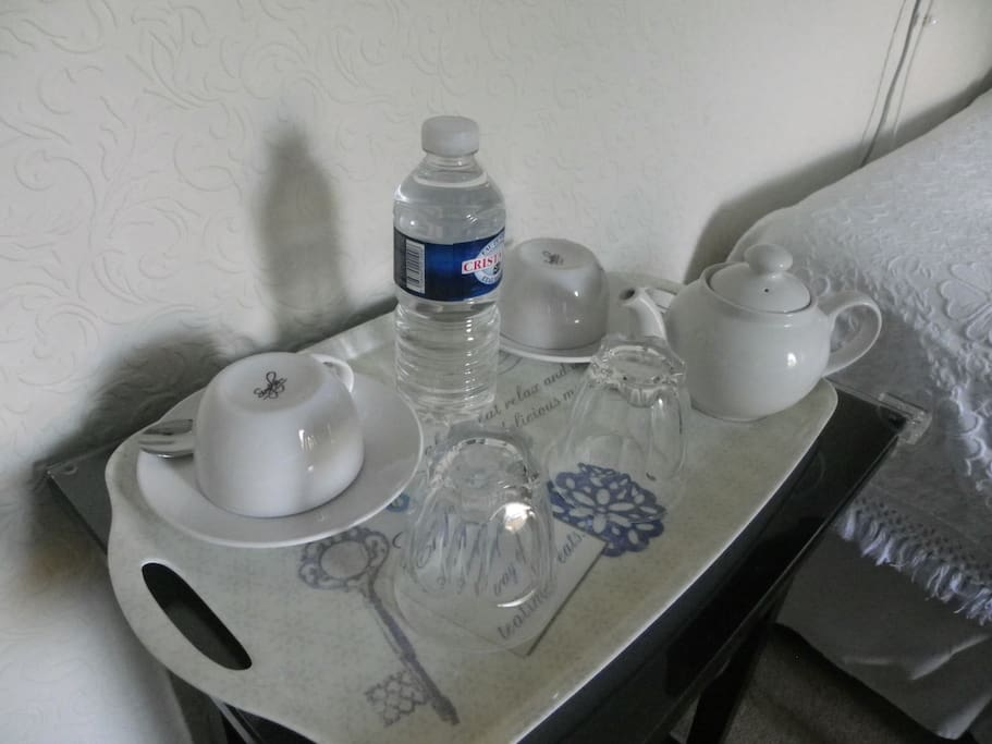 Complimentary Beverages Tray, free WiFi.