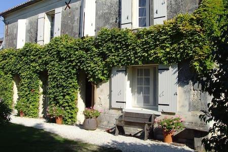Delightful Farmhouse with pool near Cognac - Louzignac - House