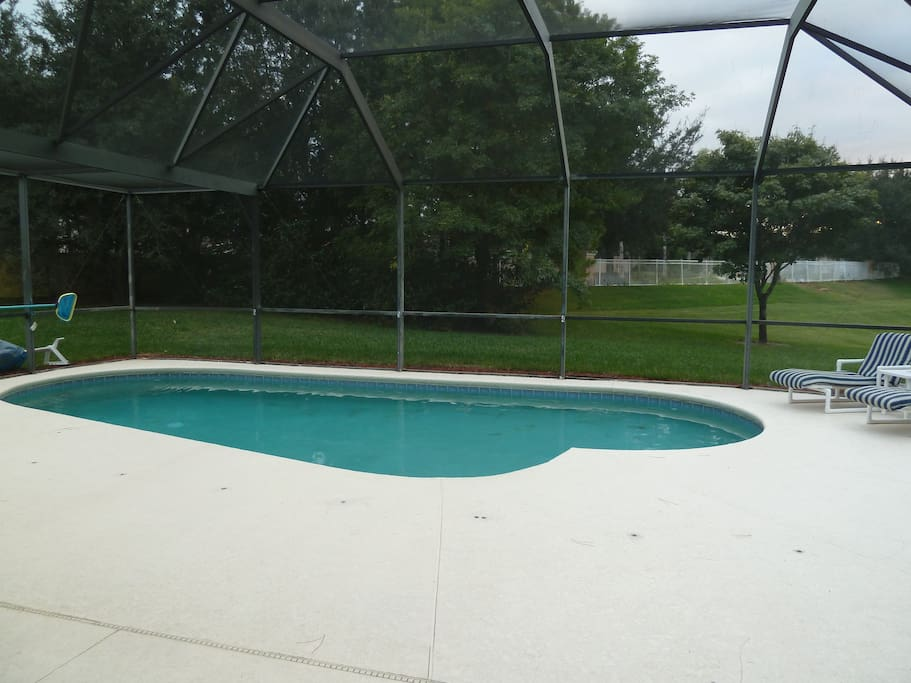 Massive pool deck with comfort furniture. Kick back and relax