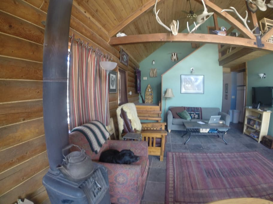 The main living area at the ranch.