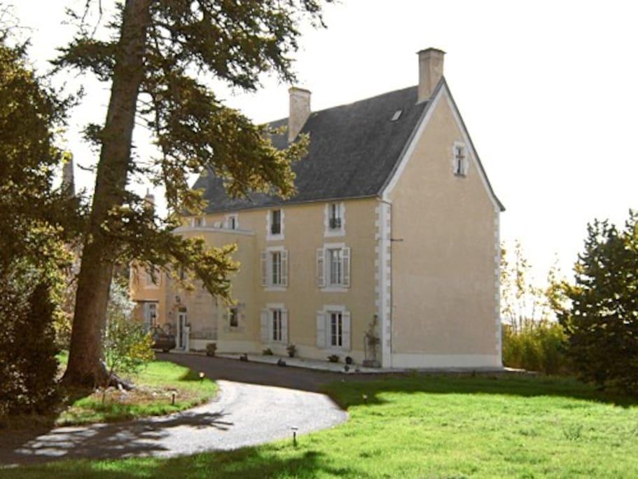 Chateau Ardilleux, in private parkland
