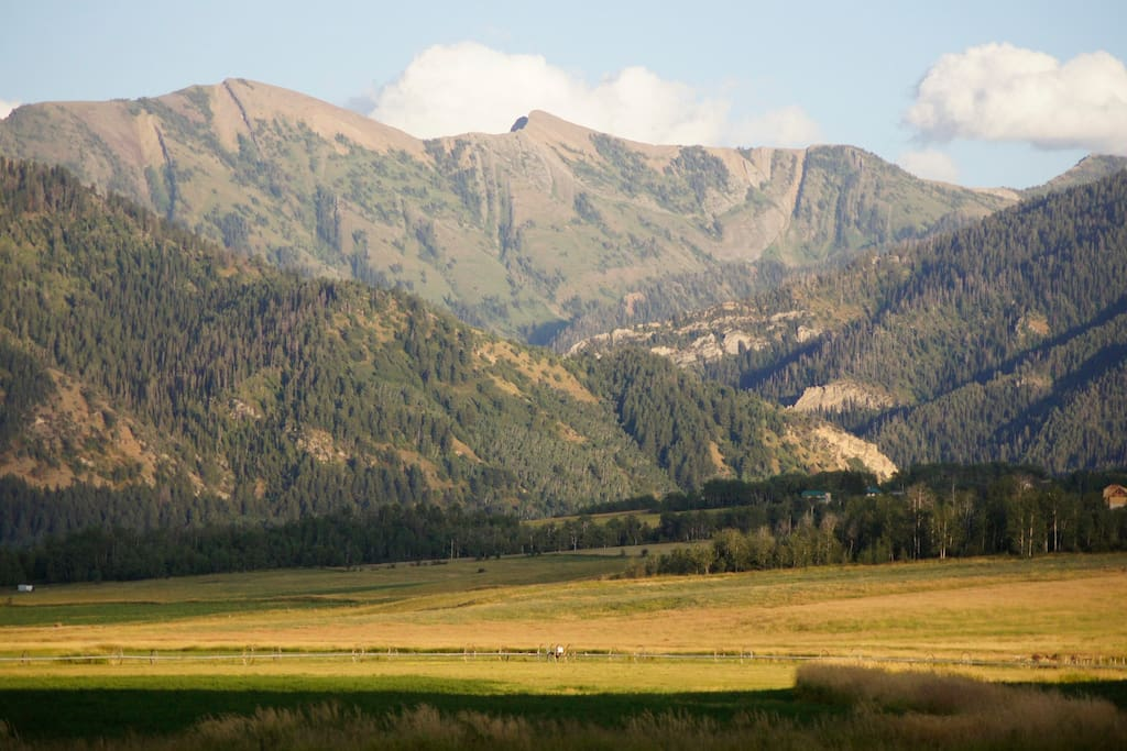 Nestled up against beautiful Bridger-Teton national forest, surrounded by hundreds of acres of private farmland.