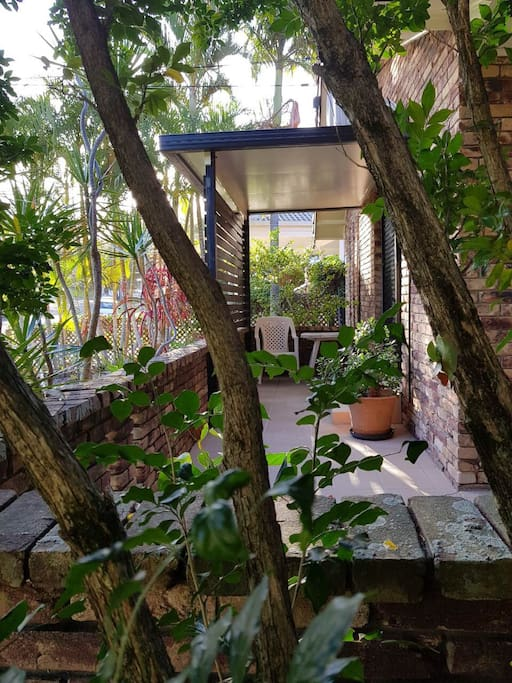 Sit back & relax with a good book in this private undercover balcony nook that opens up just off your bedroom suite!!!