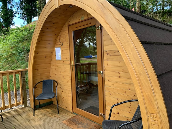 Loch Awe Camping Pod 2 Located on Loch Shore