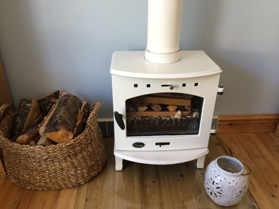 woodburner in living space