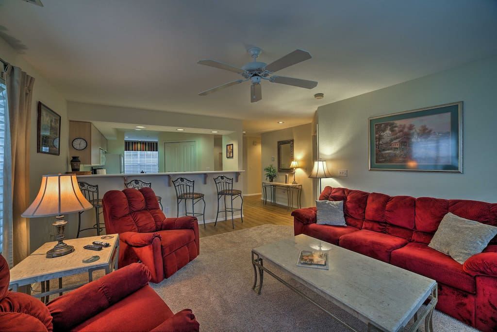 You'll love coming home to this 2-bedroom, 2-bathroom vacation rental condo in Branson!
