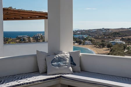 Aiolos home, amazing sea view, 2min from Logaras