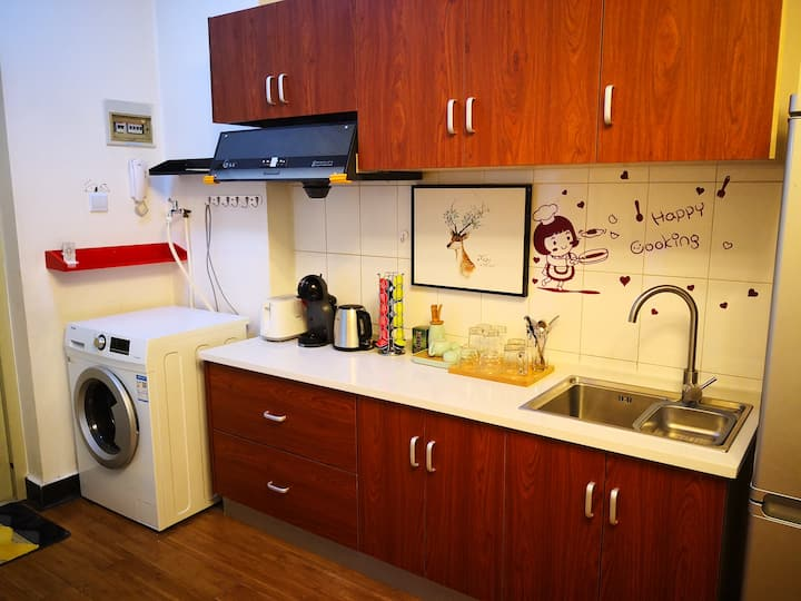 """""""小酱的410""""--北市区中心CBD, 北欧/美式简约舒适小公寓"""