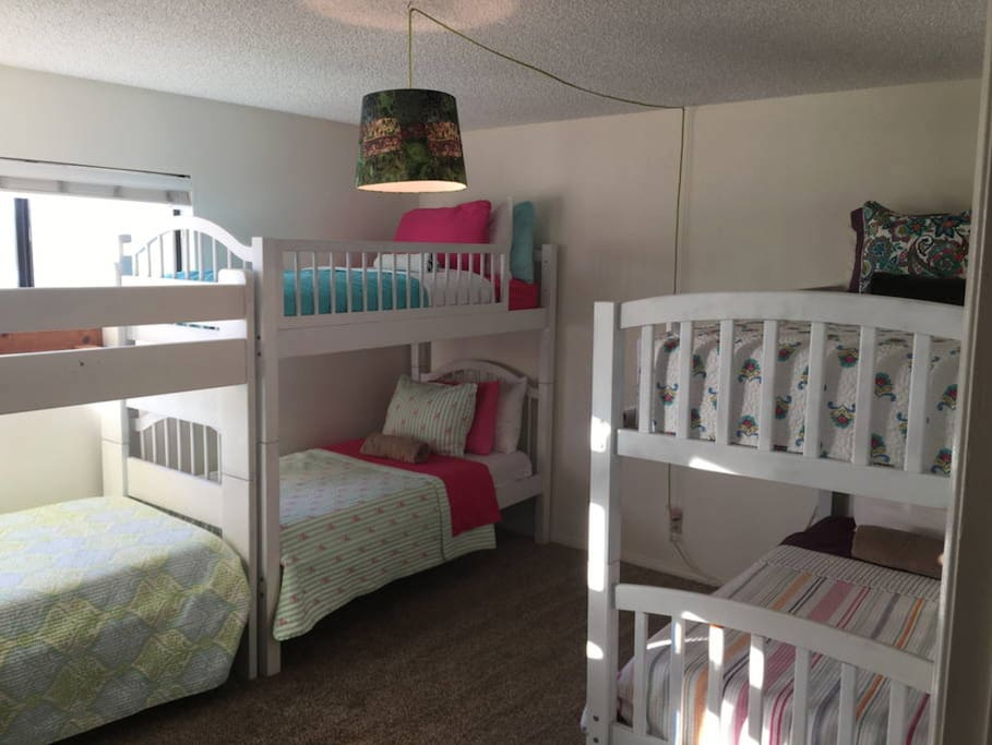 The shared bunk bed room