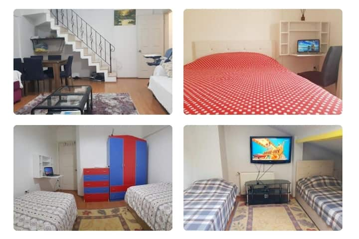 5min to airport (SAW).  5 room, 9 bed, 3 BATHROOMS
