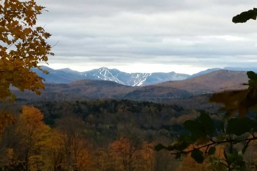 Snow is starting to fill-in on the slopes of Smugglers Notch
