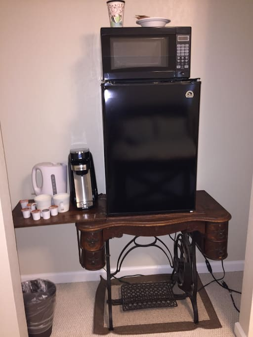 This is the guest room amenities area for the room.