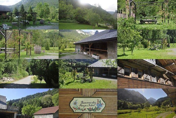 45 m² dans  ferme du XVIII ème ,champs et forêt - Abondance - อพาร์ทเมนท์